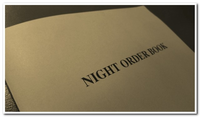 Night order book for Masters